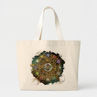 THE PROSPERITY CONNEXION : Gems of Fortune Large Tote Bag