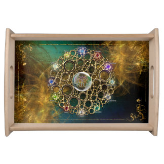 THE PROSPERITY CONNEXION : Gems of Fortune Serving Tray
