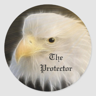 The Protector Round Sticker
