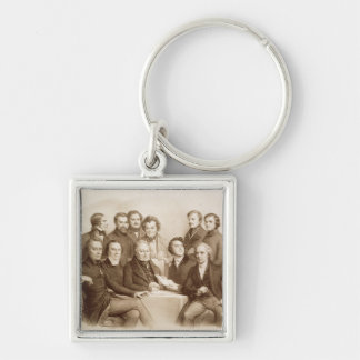 The Provisional Government Silver-Colored Square Key Ring