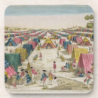The Prussian Army Camp, Drawn from Life on the Fie Beverage Coaster