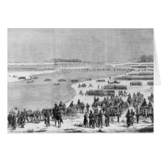 The Prussian army crossing the Shlei at Arnis Card