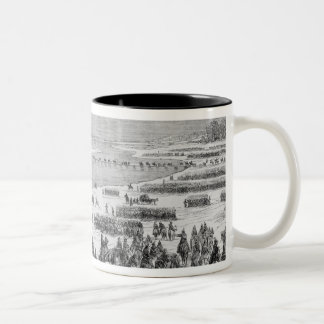 The Prussian army crossing the Shlei at Arnis Two-Tone Coffee Mug