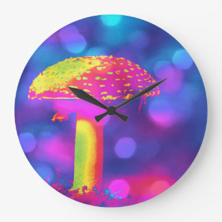 The Psychedelic Mushroom Large Clock