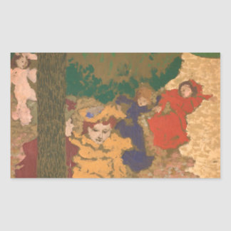 The Public Gardens: Young Girls Playing Rectangular Sticker