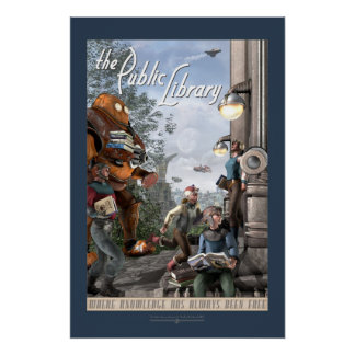 "The Public Library - Left Panel (20x30"") Poster"