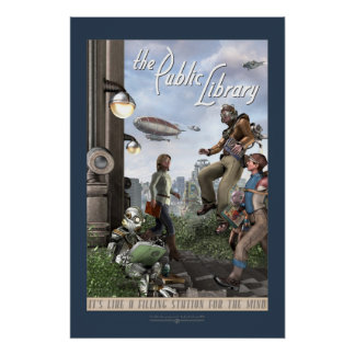 The Public Library - Right Panel 20x30 Posters