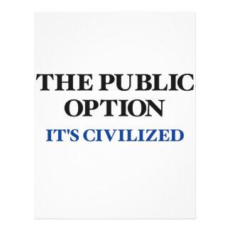 The Public Option Custom Flyer