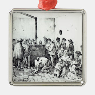 The Public Warming Room in Paris, 1840 Christmas Ornament