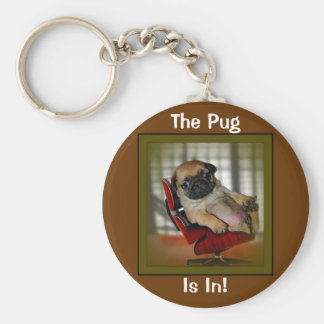 The Pug is in! Key Ring