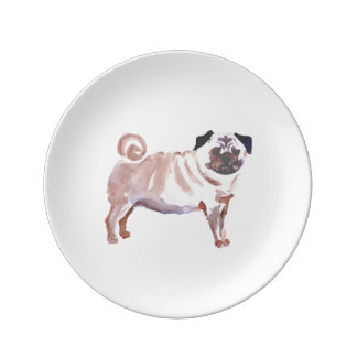 The Pugsly Plate Porcelain Plate