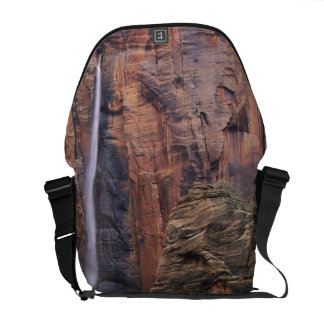 The Pulpit and ephemeral waterfall 2 Messenger Bag