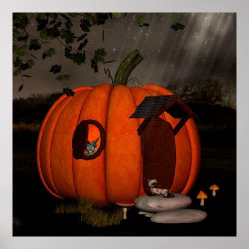 The pumpkin house poster