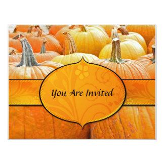 "The Pumpkin Patch Invitation 4.25"" X 5.5"" Invitation Card"