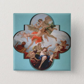 The Punishment of Cupid (oil on canvas) 15 Cm Square Badge