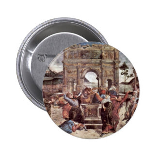 The Punishment Of Leviter Detail By Botticelli San Pinback Buttons