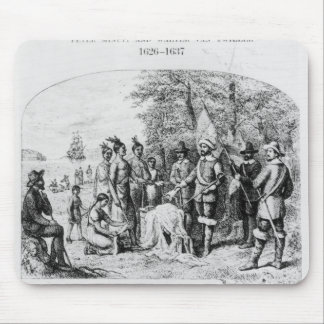 The Purchase of Manhattan Island, September 1626 Mouse Mat