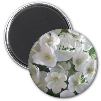 The Purity Flowers by Sherri 6 Cm Round Magnet