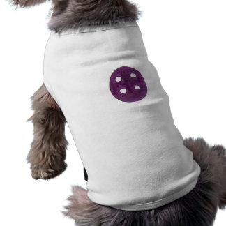 The purple button pet shirt