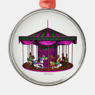 The Purple Carousel Christmas Ornament