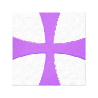 The Purple Cross Canvas Print