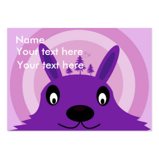 The purple happy monster business card template