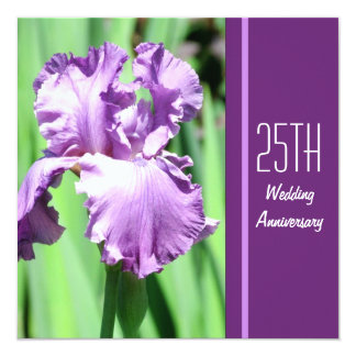 The Purple Iris Wedding Anniversary Invitation