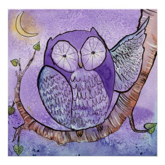 The Purple Owl Poster