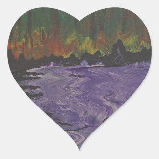 The Purple River Heart Sticker