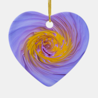 The Purple Water Lily Twirl Design Christmas Ornament
