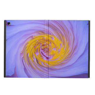 The Purple Water Lily Twirl Design iPad Air Case