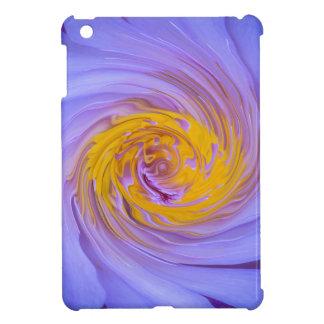 The Purple Water Lily Twirl Design iPad Mini Cover