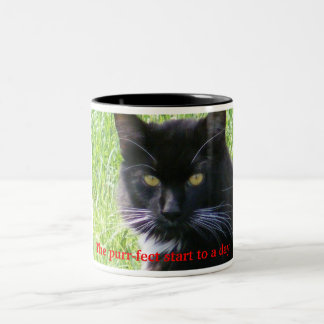 The purr-fect start to a day Cat Mug