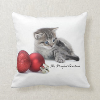 The Purrfect Christmas kitten cushion