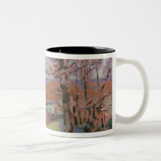 The Puy Barion at Crozant, Brittany (oil on canvas Two-Tone Coffee Mug