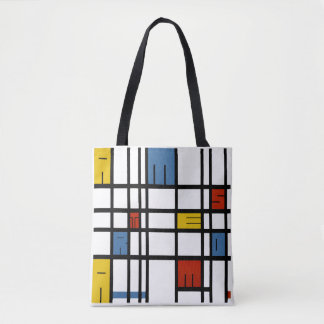 The puzzle of Amsterdam (Mondrian style) Tote Bag