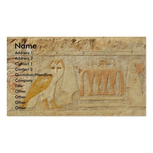 The Pyramid of Djoser , EGYPT, OWL Hieroglyphics Business Cards