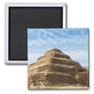 The Pyramid of Djoser - Saqqara,  Egypt Square Magnet