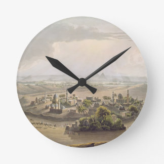 The Pyramids at Cairo, engraved by Daniel Havell ( Round Clock
