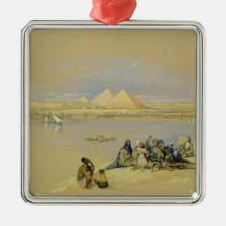 The Pyramids at Giza, near Cairo (w/c) Christmas Ornament