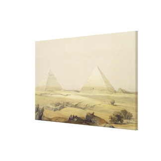 """The Pyramids of Giza, from """"Egypt and Nubia"""", Vol. Canvas Print"""