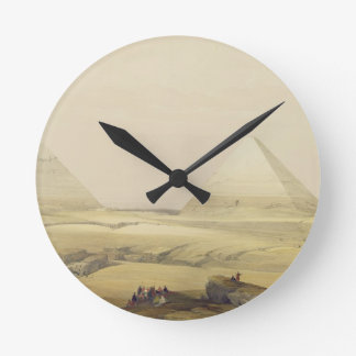 """The Pyramids of Giza, from """"Egypt and Nubia"""", Vol. Round Clock"""