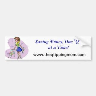 The Q-Tipping Mum Wearables Bumper Sticker