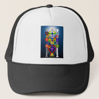 The Qabalistic Tree of Life Structure Diagram Trucker Hat