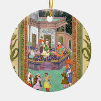 The Qazi, from the Small Clive Album (opaque w/c o Round Ceramic Decoration