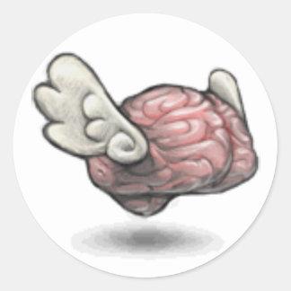 The Qiqqa Brain! Classic Round Sticker