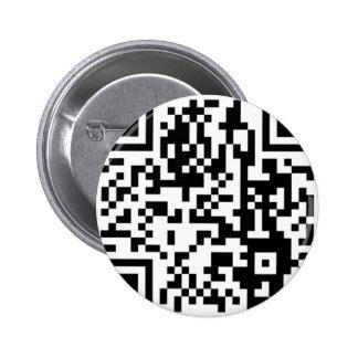 The QR Code 6 Cm Round Badge