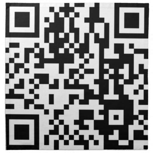 The QR Code Printed Napkins
