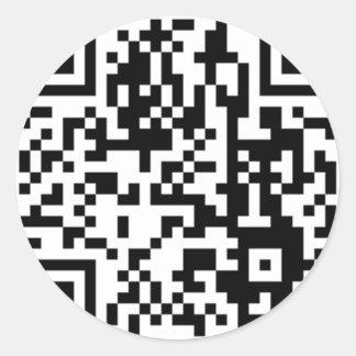 The QR Code Round Sticker