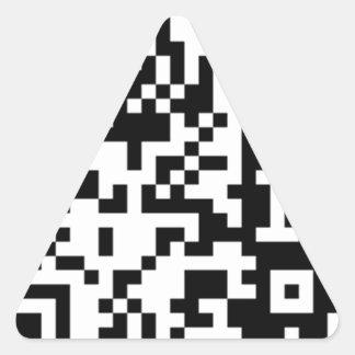 The QR Code Triangle Sticker
